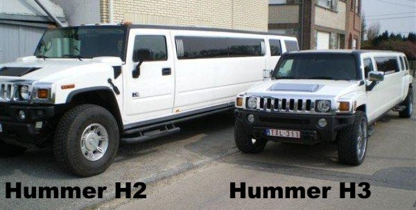 der gr enunterschied zwischen hummer h2 und h3 star limos. Black Bedroom Furniture Sets. Home Design Ideas